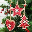 Деревянные новогодние подвески  - отличный вариант украшения!