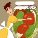Консервируем, замораживаем овощи и фрукты.