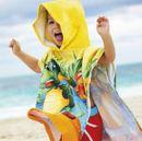 Пляжные полотенца и детские полотенца-пончо.