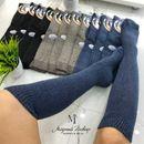 Тепленькие женские носочки, гольфы для осенних и зимних холодов, есть с мехом
